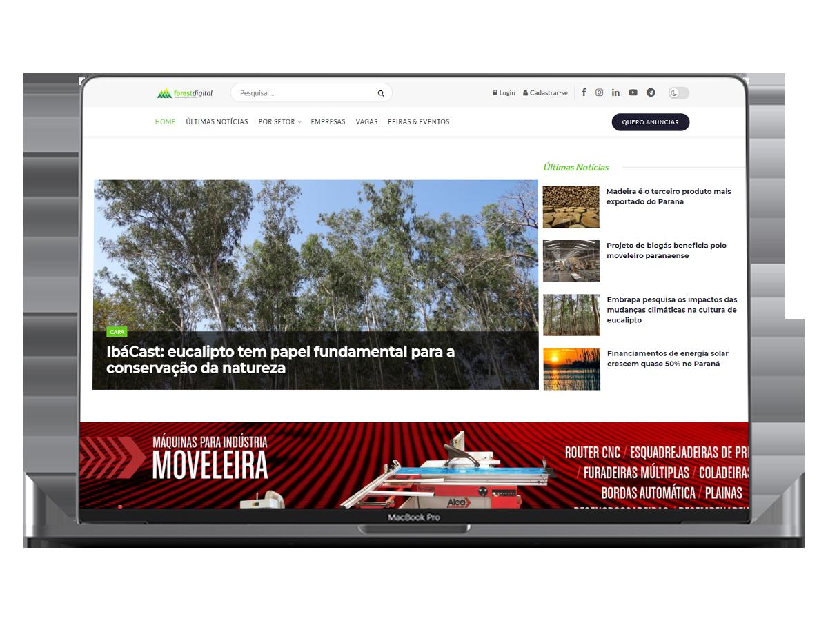 site Portal de Notícias Forest Digital